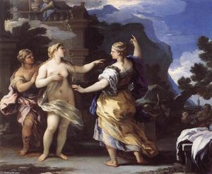 Luca Giordano - Venus Punishing Psyche with a Task (-)