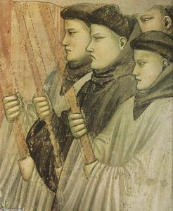 Giotto Di Bondone - Scenes from the Life of Saint Francis: 4. Death and Ascension of St Francis (detail) (12)