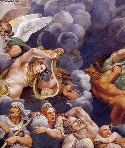 Giulio Romano - Vault: The Assembly of Gods around Jupiter-s Throne (detail)