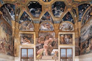 Giulio Romano - View of the Sala di Psiche (west wall)