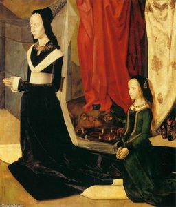 Hugo Van Der Goes - Sts Margaret and Mary Magdalene with Maria Portinari (detail) (16)