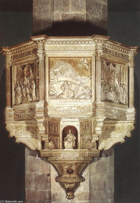 Pulpit, 1472 by Benedetto Da Maiano (1446-1497, Italy) | Painting Copy | WahooArt.com