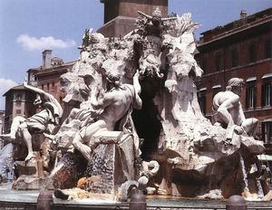 Gian Lorenzo Bernini - Fountain of the Four Rivers