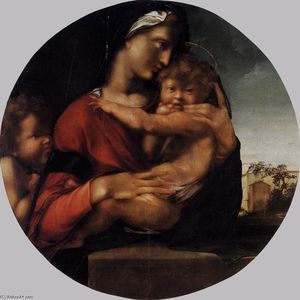 Alonso Gonzalez De Berruguete - Madonna and Child with the Young St John