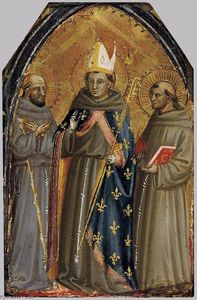 Bicci Di Lorenzo - Sts Francis of Assisi, Louis of Toulouse and Anthony of Padua