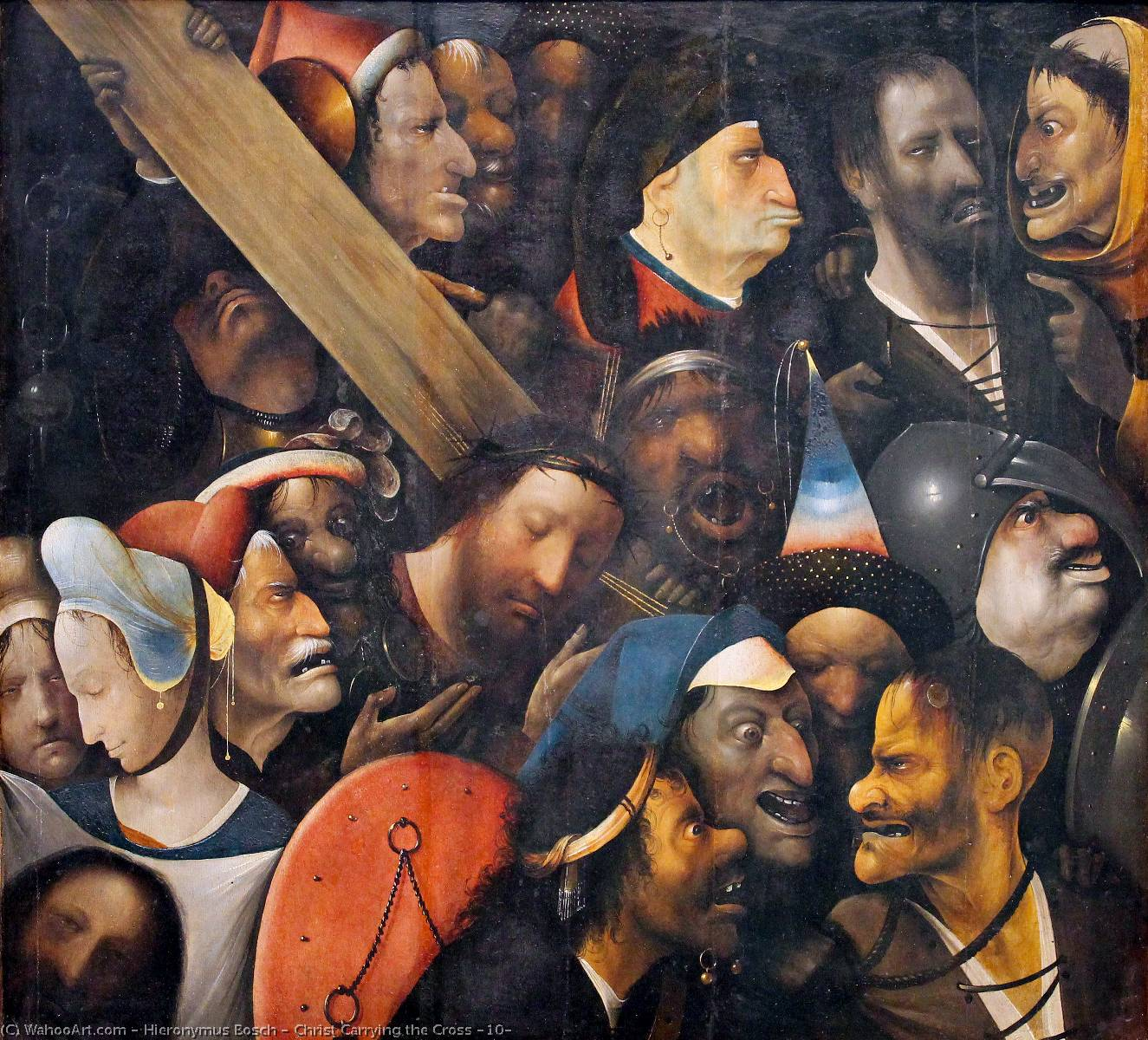 Christ Carrying the Cross (10), Oil On Panel by Hieronymus Bosch (1450-1516, Netherlands)