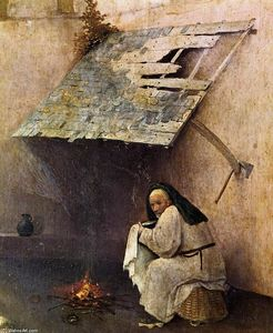 Hieronymus Bosch - St Peter with the Donor (detail)