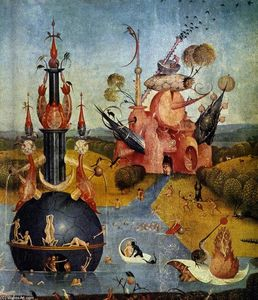 Hieronymus Bosch - Triptych of Garden of Earthly Delights (detail) (46)