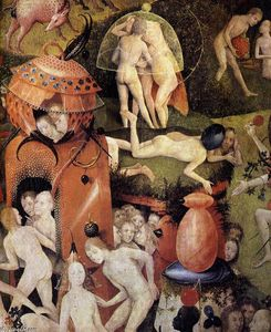 Hieronymus Bosch - Triptych of Garden of Earthly Delights (detail) (49)