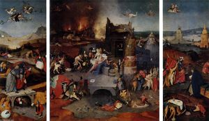 Hieronymus Bosch - Triptych of Temptation of St Anthony