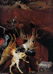 Hieronymus Bosch - Triptych of Temptation of St Anthony (detail) (29)