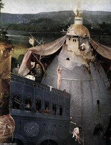 Hieronymus Bosch - Triptych of Temptation of St Anthony (detail) (34)