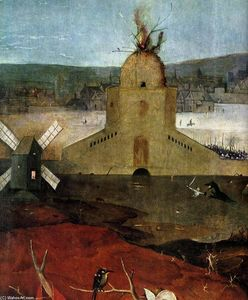 Hieronymus Bosch - Triptych of Temptation of St Anthony (detail) (40)