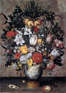 Ambrosius Bosschaert The Elder - Flowers in a Chinese Vase