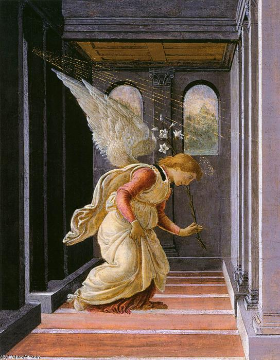 The Annunciation (detail), 1485 by Sandro Botticelli (1445-1510, Italy) | Museum Art Reproductions Sandro Botticelli | WahooArt.com