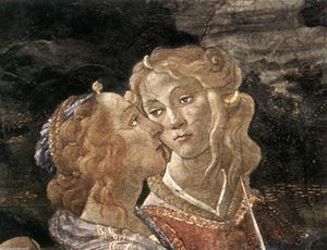 Sandro Botticelli - Three Temptations of Christ (detail) (23)