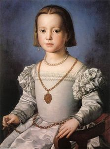 Agnolo Bronzino - Bia, The Illegitimate Daughter of Cosimo I de' Medici
