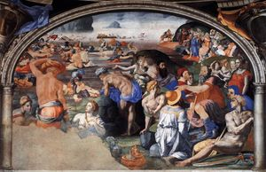 Agnolo Bronzino - Crossing of the Red Sea