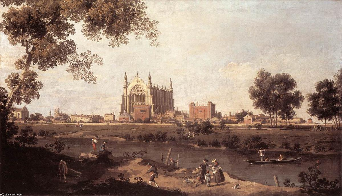 Eton College Chapel, 1754 by Giovanni Antonio Canal (Canaletto) (1730-1768, Italy) | Museum Art Reproductions Giovanni Antonio Canal (Canaletto) | WahooArt.com