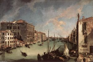 Giovanni Antonio Canal (Canaletto) - Grand Canal, Looking East from the Campo San Vio