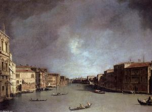 Giovanni Antonio Canal (Canaletto) - Grand Canal: Looking from Palazzo Balbi