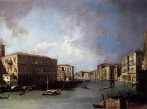 Giovanni Antonio Canal (Canaletto) - Grand Canal: Looking North from Near the Rialto Bridge