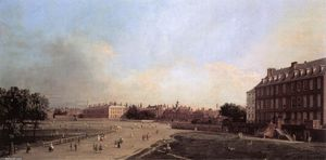 Giovanni Antonio Canal (Canaletto) - London: the Old Horse Guards from St James-s Park