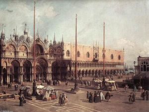 Giovanni Antonio Canal (Canaletto) - Piazza San Marco: Looking South-East
