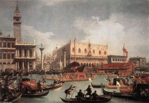 Giovanni Antonio Canal (Canaletto) - The Bucintore Returning to the Molo on Ascension Day