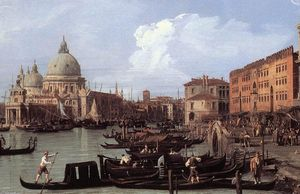 Giovanni Antonio Canal (Canaletto) - The Molo: Looking West (detail)