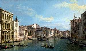 Giovanni Antonio Canal (Canaletto) - Venice: The Grand Canal from Palazzo Flangini to the Church of San Marcuola