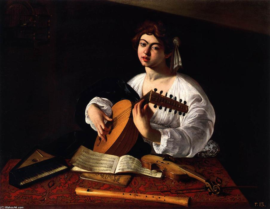 The Lute Player, 1600 by Caravaggio (Michelangelo Merisi) (1571-1610, Spain) | Museum Quality Reproductions | WahooArt.com
