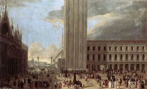 Luca Carlevaris - Piazza San Marco with Jugglers