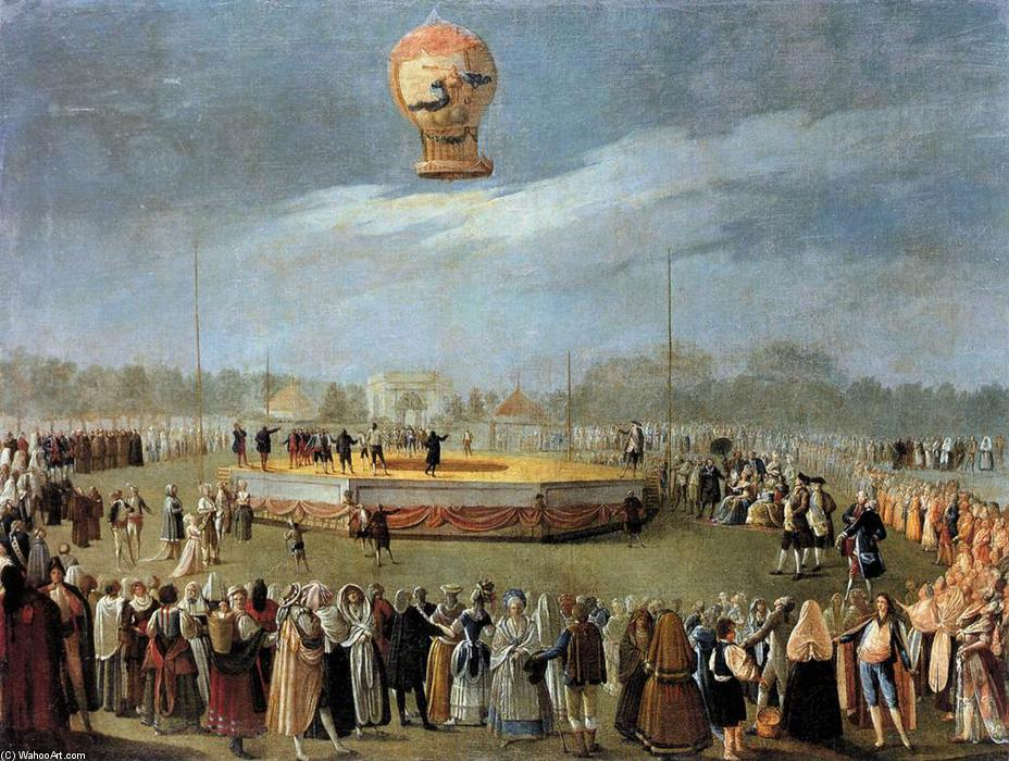 Ascent of the Balloon in the Presence of Charles IV and his Court, 1783 by Antonio Carnicero Y Mancio (1748-1814, Spain) | WahooArt.com