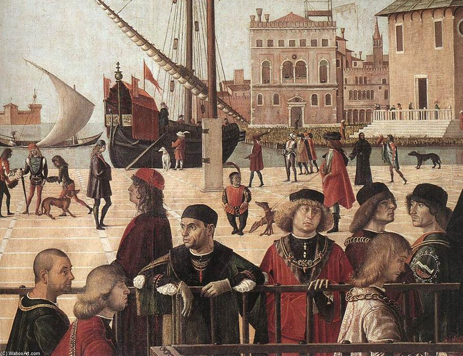 Arrival of the English Ambassadors (detail) (12), Tempera by Vittore Carpaccio (1465-1526, Italy)