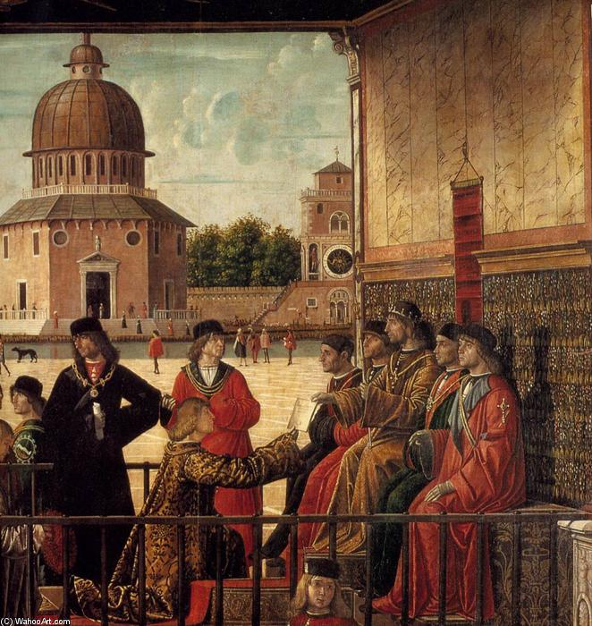 Arrival of the English Ambassadors (detail) (13), Tempera by Vittore Carpaccio (1465-1526, Italy)