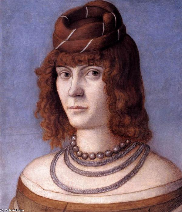 Portrait of a Woman, Oil by Vittore Carpaccio (1465-1526, Italy)