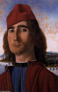 Vittore Carpaccio - Portrait of an Unknown Man with Red Beret