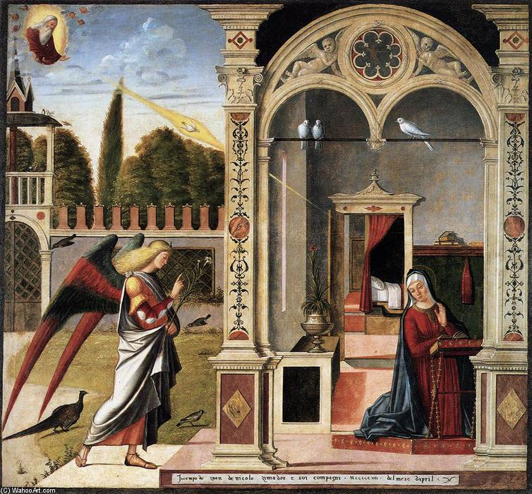 The Annunciation, Oil On Canvas by Vittore Carpaccio (1465-1526, Italy)