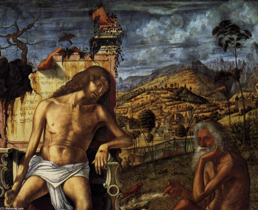 The Meditation on the Passion (detail), Oil by Vittore Carpaccio (1465-1526, Italy)