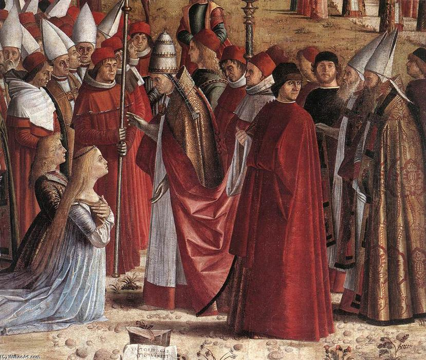 The Pilgrims Meet the Pope (detail), Tempera by Vittore Carpaccio (1465-1526, Italy)
