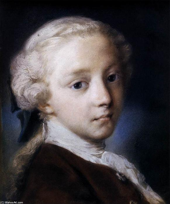 Portrait of a Boy, Pastel by Rosalba Carriera (1675-1757, Italy)