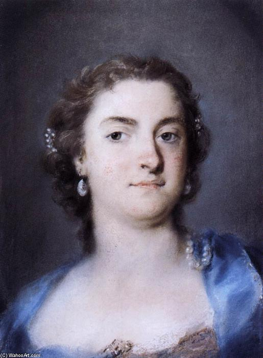 Portrait of Faustina Bordoni Hasse, 1730 by Rosalba Carriera (1675-1757, Italy) | Oil Painting | WahooArt.com