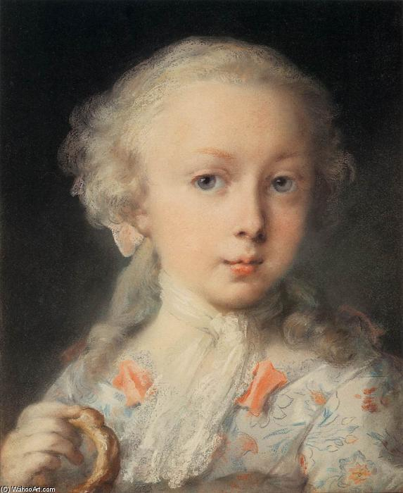 Young Lady of the Le Blond Family, Pastel by Rosalba Carriera (1675-1757, Italy)