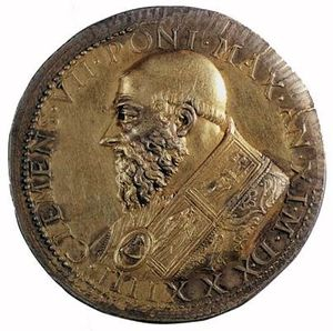 Benvenuto Cellini - Medal of Clement VII (obverse)