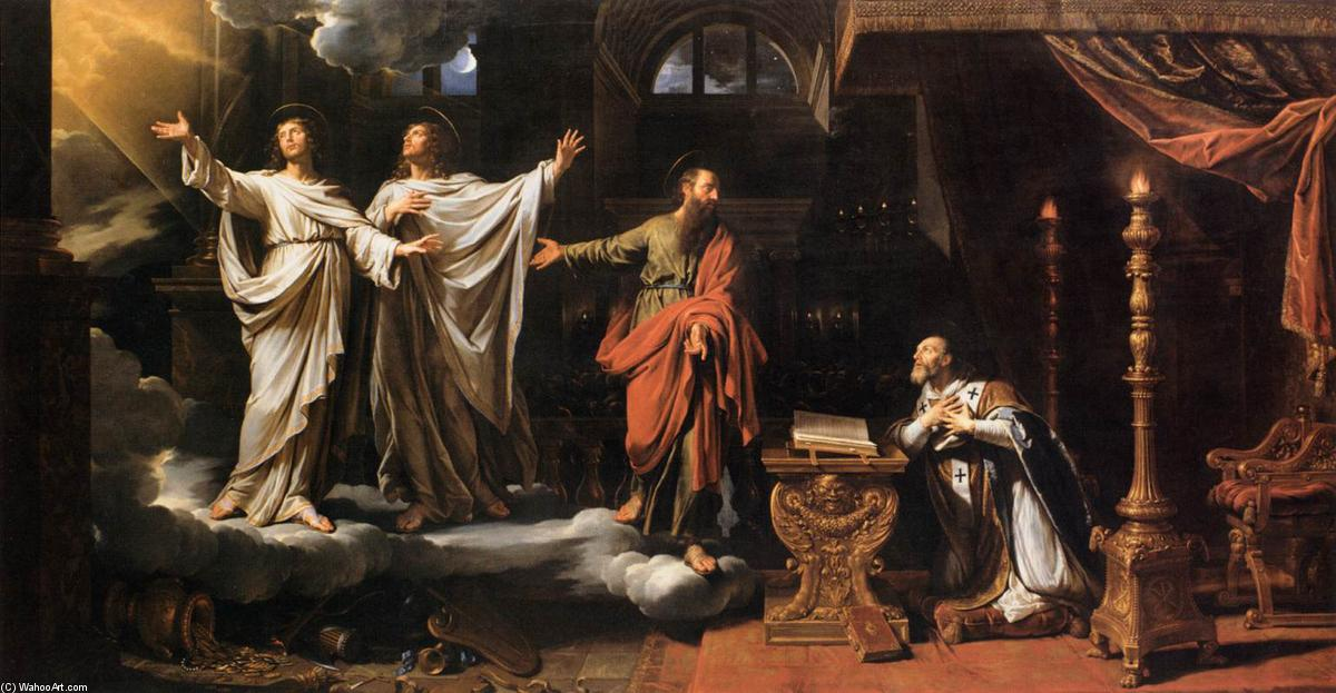 Sts Gervase abd Protase Appearing to St Ambrose, 1658 by Philippe De Champaigne (1602-1674, Netherlands) | Paintings Reproductions Philippe De Champaigne | WahooArt.com