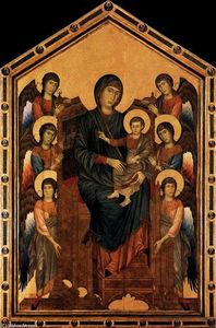 Cimabue - Virgin Enthroned with Angels