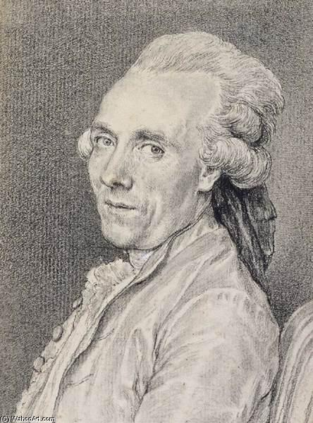 Portrait of Claude-Joseph Vernet, Chalk by Charles Nicolas Cochin (1715-1790, France)