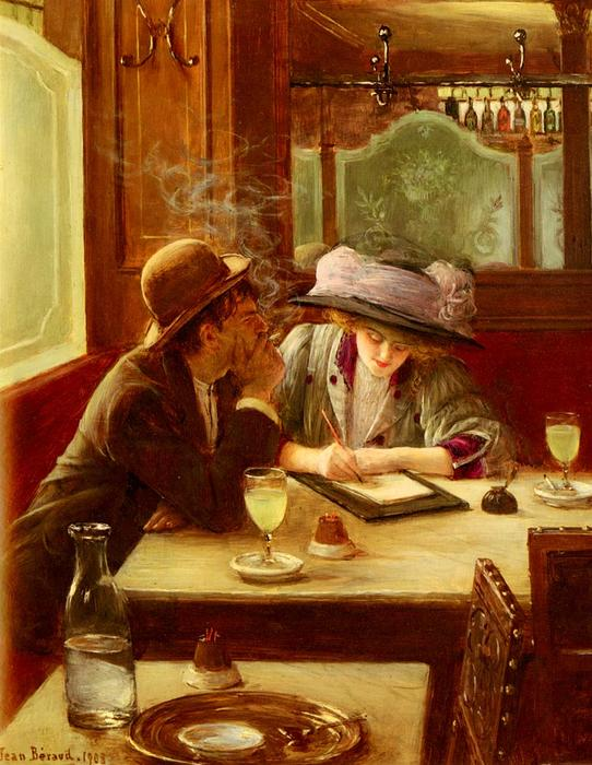 Buy Museum Art Reproductions | The Letter, 1908 by Jean Georges Béraud (1849-1936, France) | WahooArt.com