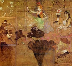 Henri De Toulouse Lautrec - La Goulue Dancing (also known as Les Almees)